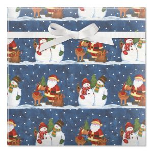Winter Snowpals Jumbo Rolled Gift Wrap