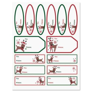 Merry Reindeer Labels