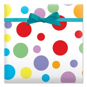 Colorful Dots Jumbo Rolled Gift Wrap