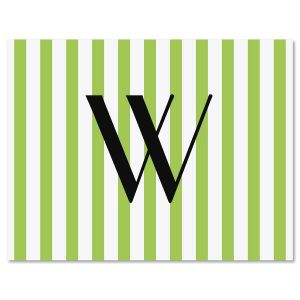 Stripes Initial Note Card