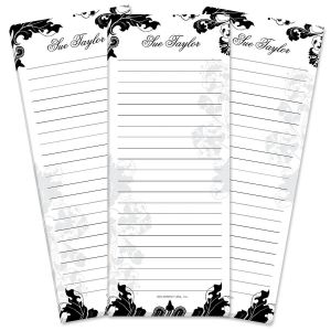 Rococo Lined Shopping List Pads