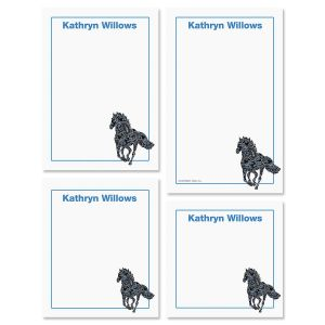 Horse Pattern Notepad Set