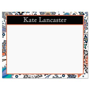 Color Paisley Correspondence Card