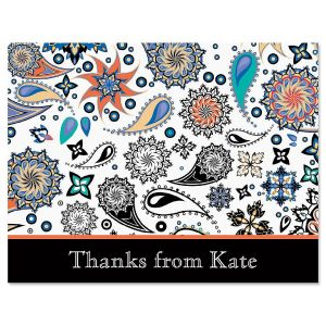 Color Paisley Thank You Card