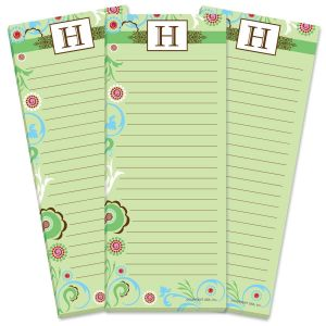 Fanciful Initial Lined Shopping List Pads
