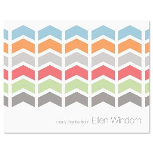 Chic Chevron Thank You Card