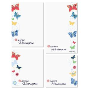 Delicate Butterflies Notepad Set