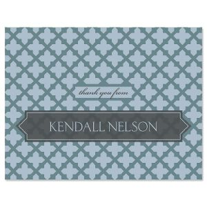 Quatrefoil Thank You Cards