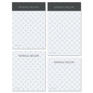 Quatrefoil Notepad Set