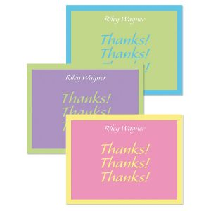 Bordered Hues Thank You Cards