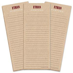 Handspun Lined Shopping List Pads