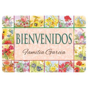 Floral Bienvenidos Doormat