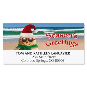 Holiday Sandman Christmas Deluxe Address Labels