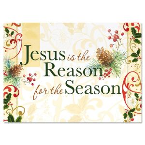 Jesus is the Reason Nonpersonalized Christmas Cards - Set of 18