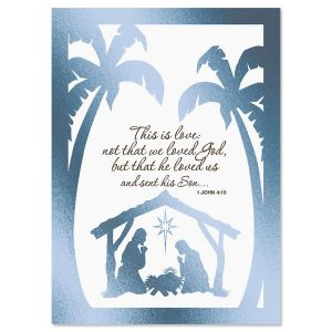 Bethlehem Nonpersonalized Deluxe Christmas Cards - Set of 14