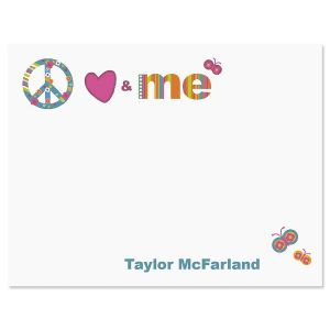 Peace, Love & Me Correspondence Cards