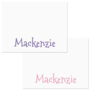 Girls Only Correspondence Cards  (2 Color Choices)