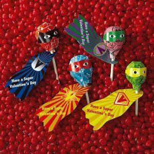 Lollipop Superhero Capes & Mask Stickers