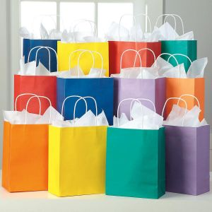 Spring Kraft Gift Bags Value Pack