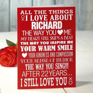 Personalized Valentine Card for Your Husband
