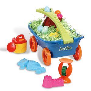 Kids Personalized Plastic Wagon Set