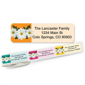 Photo Daisies Rolled Address Labels  (5 designs)