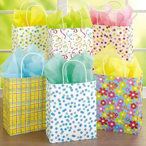 Designed Kraft Gift Bags Value Pack