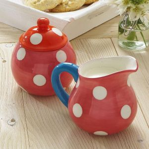 Dots Cream Pitcher & Sugar Bowl
