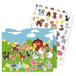 Farm Animals Background Scenes and Stickers