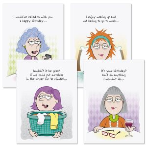 Girlfriends Humor Birthday Cards and Seals