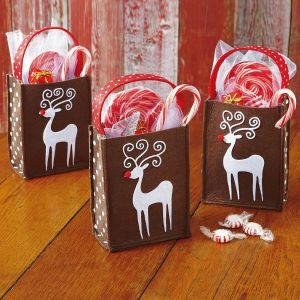 Reindeer Felt Treat Bags