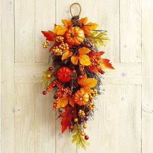 Pumpkin & Pinecone Teardrop Arrangement