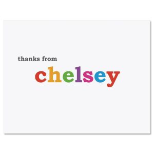 Paintbox Thank You Note Cards