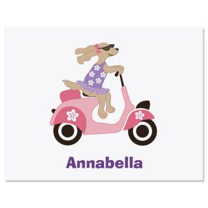 Pink Scooter Note Cards