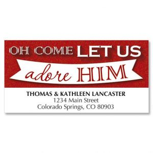Let Us Adore Christmas Address Labels