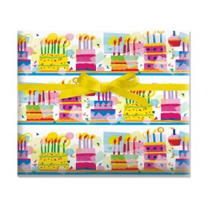Birthday Cakes Jumbo Rolled Gift Wrap