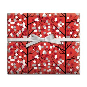 Branches & Dots Jumbo Rolled Gift Wrap