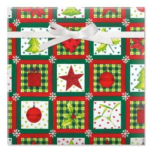 Holiday Elements Jumbo Rolled Gift Wrap