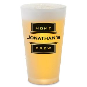 Home Brew Personalized Pint Beer Glass
