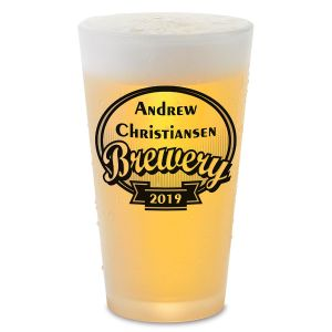 Brewery Personalized Pint Beer Glass