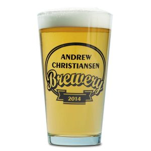 Beer Pint Personalized Glass - Brewery