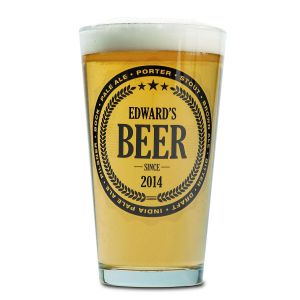 Beer Pint Personalized Glass
