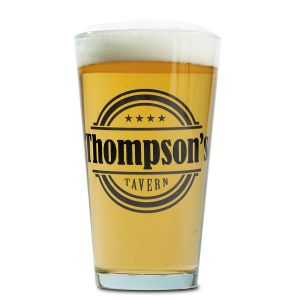 Tavern Name Pint Personalized Beer Glass