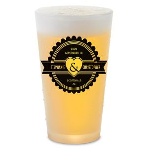 Home Wedding Personalized Pint Beer Glass