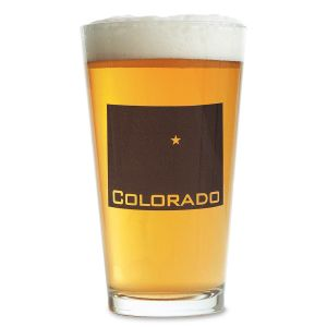 Custom State Beer Pint Glass