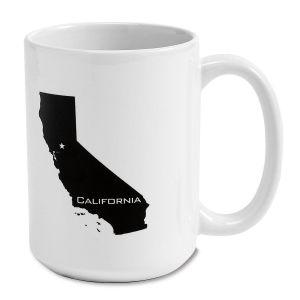 State Silhouette Mug, 15 oz.