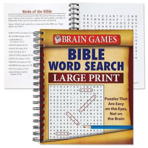 Brain Games: Bible Word Search  (Large Print)