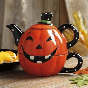 Jack-o'-Lantern Tea For One