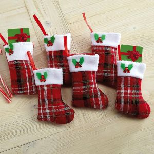 Plaid Stocking Gift Card Holders