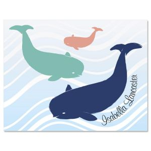 Whale Personalized Note Card